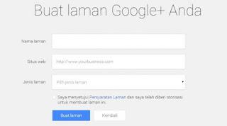 buat laman google + anda untuk google bisnisku