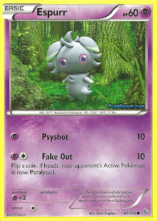 Espurr Flashfire Pokemon Card