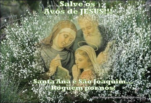Resultado de imagem para São Joaquim e Santa Ana( Avós de Jesus)