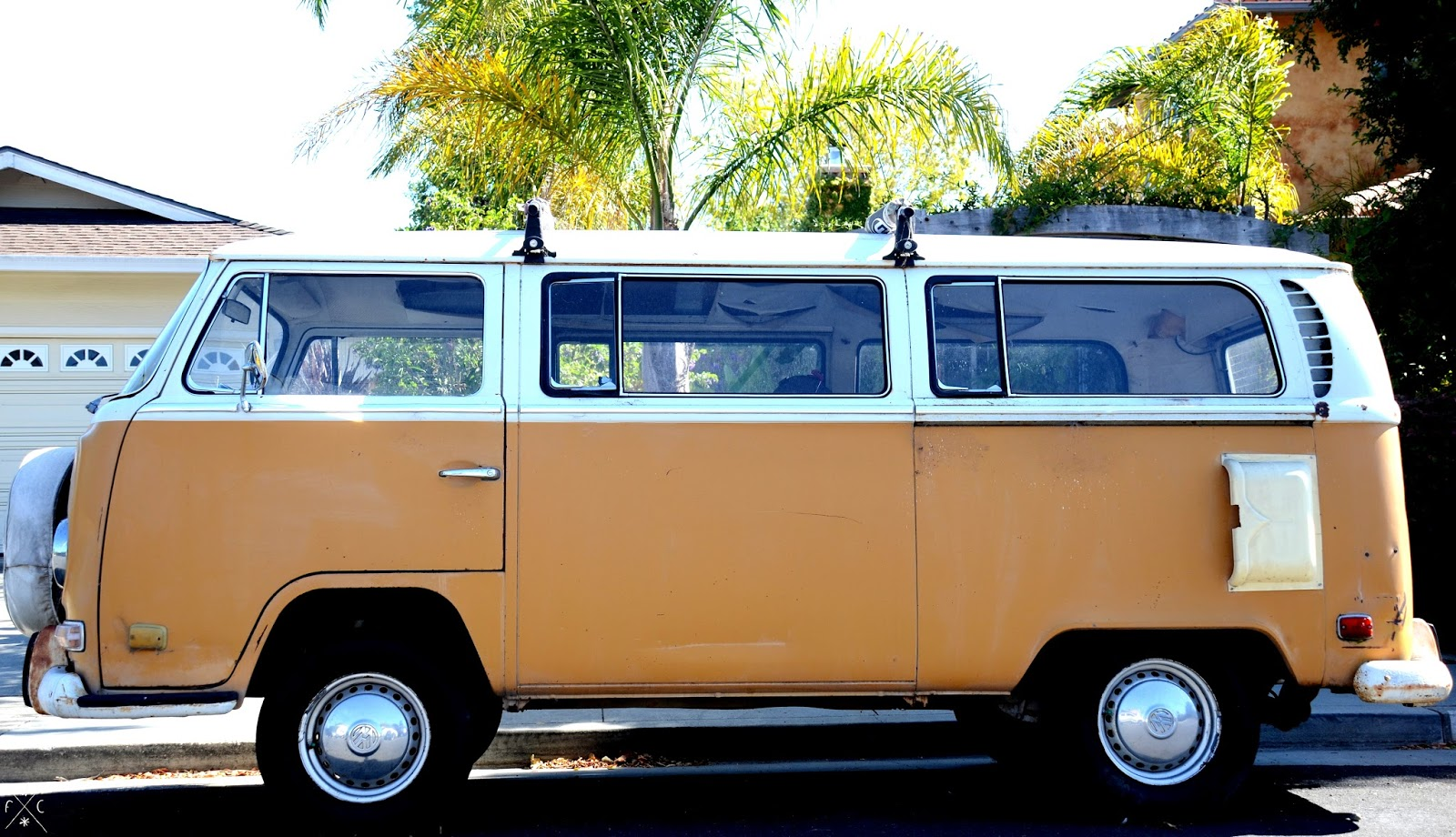 Yellow van Volkswagen - Santa Cruz, California