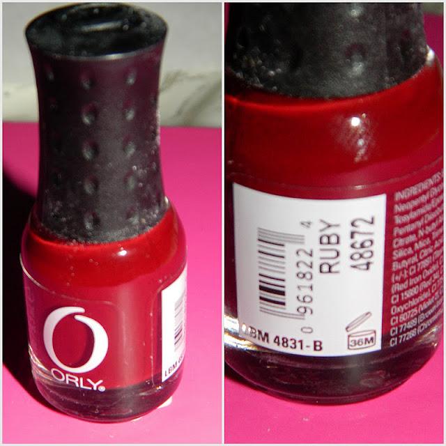 Orly nail varnish in ruby