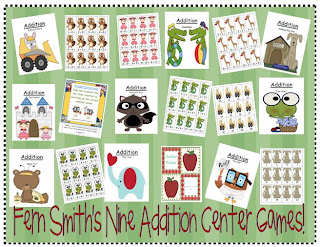 Fern Smith's Nine Addition Center Games ~Year Round Themes