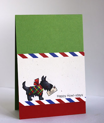 Dog Christmas Card by Alice Wertz for Newton's Nook Designs