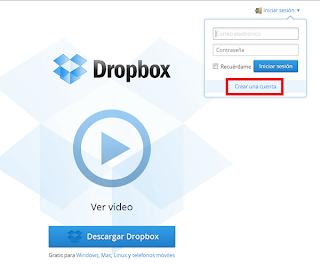 Crear una cuenta en Dropbox