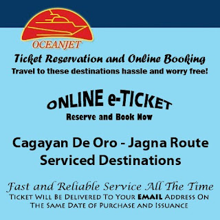 OceanJet Cagayan De Oro-Bohol (Jagna) Route Ticket Reservation and Online Booking
