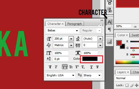 Cara Membuat Teks Dengan Efek Bayangan Menggunakan Photoshop