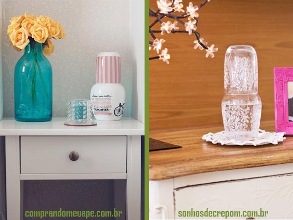 moringa garrafa água mesa cabeceira criado mudo decoração estilo ideias desejo