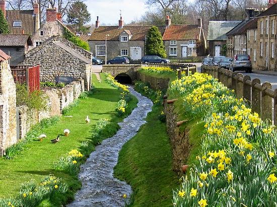 La ciudad de Helmsley, North Yorkshire, Inglaterra