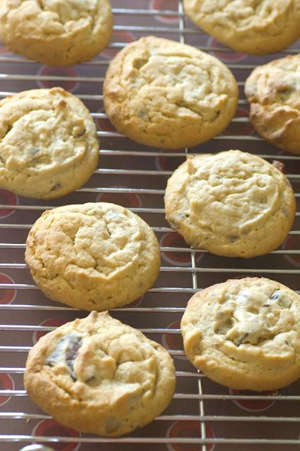 עוגיות חמאת בוטנים ושוקולד צ'יפס