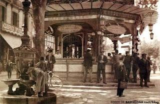 canaletas barcelona quiosco modernista antiguo