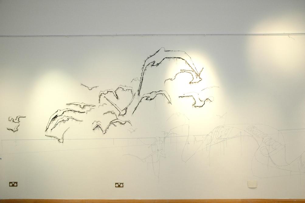 Arte con clavo, hilos