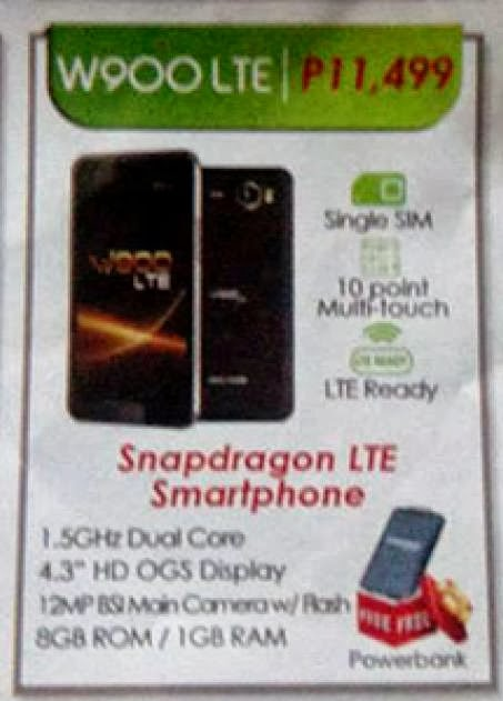 Cherry Mobile phone W900 LTE is the first 4G ready Android smartphone in PH