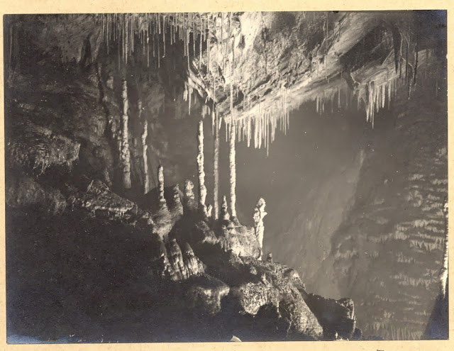 Tratman's Temple, Swildon's Hole, cave near Priddy, Mendips, Somerset.1921.