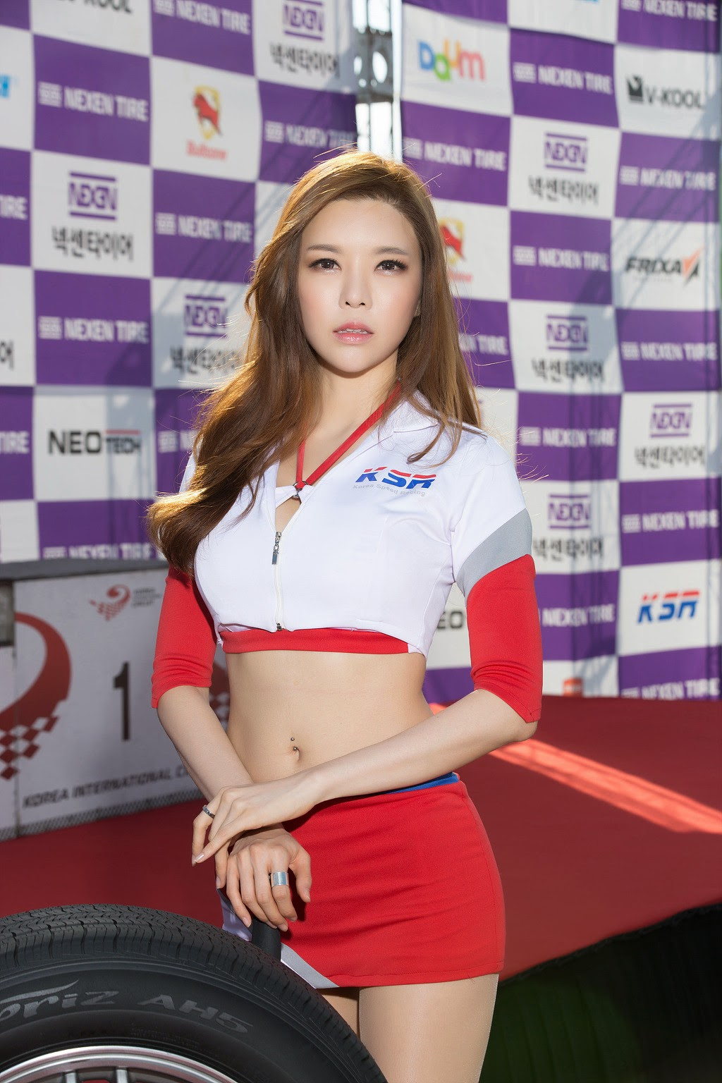 3 Ahn Ji Ah - Nexen Tire Speed Racing, Round 5 - very cute asian girl-girlcute4u.blogspot.com