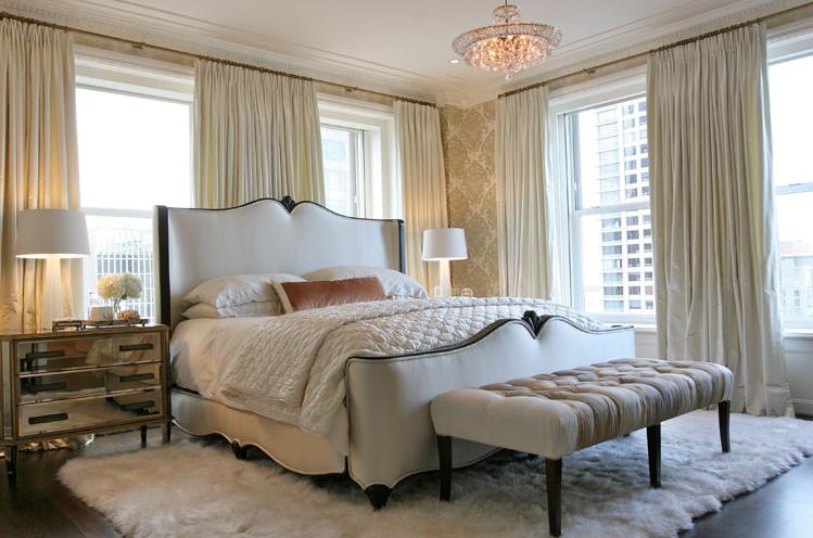 Glamorous White Bedrooms
