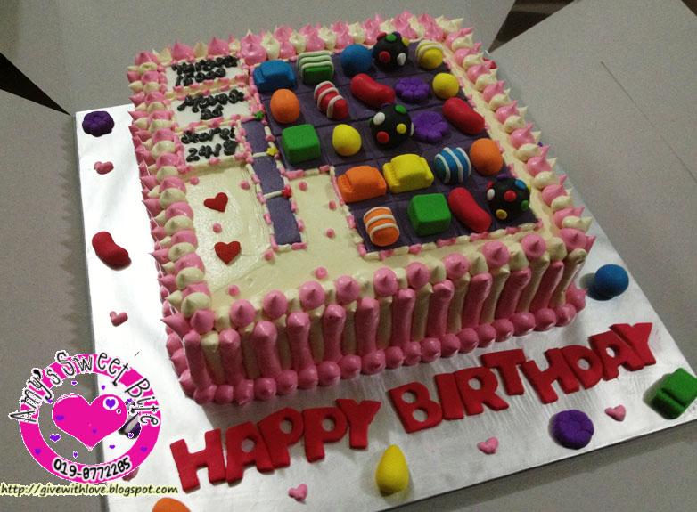 Amys Sweet Bite Birthday Cake Candy Crush Theme