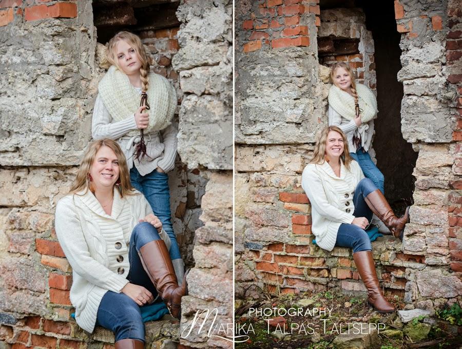 ema ja tütar-õuesessioon