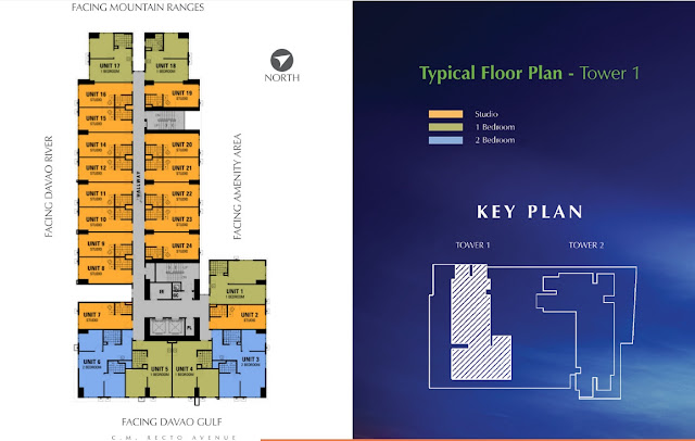 Avida Towers Davao Typical Floor Plan 5th to 23rd floor