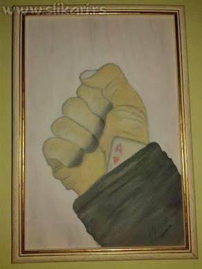 kec u rukavu,ulje na platnu 20x 30cm-umetnička slika,vladisav art bogićević-slikar luna niš
