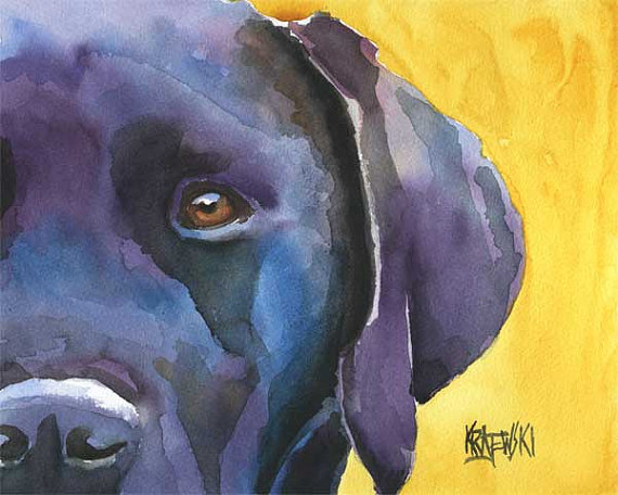 Labrador Retriever by Ron Krajewski, dog art on Etsy
