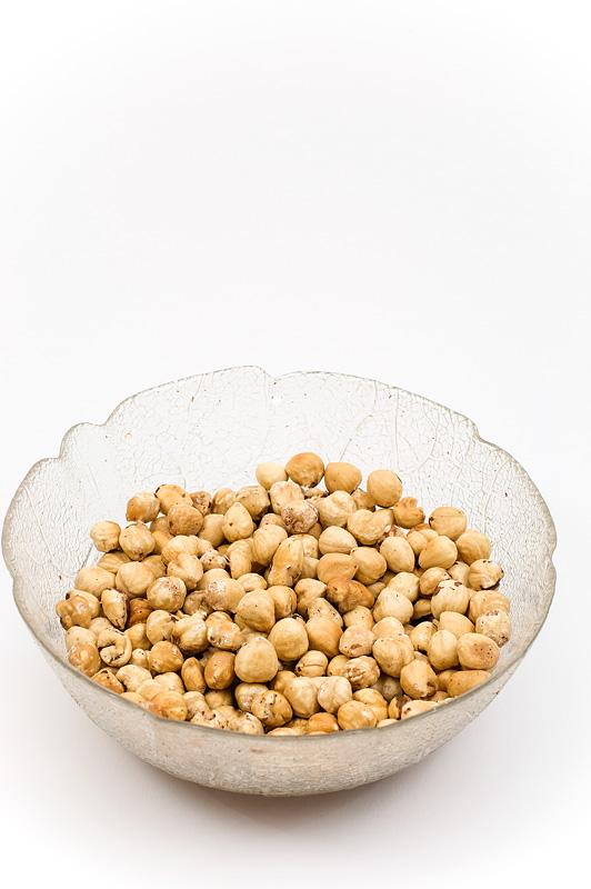 Homemade nutella nuts close