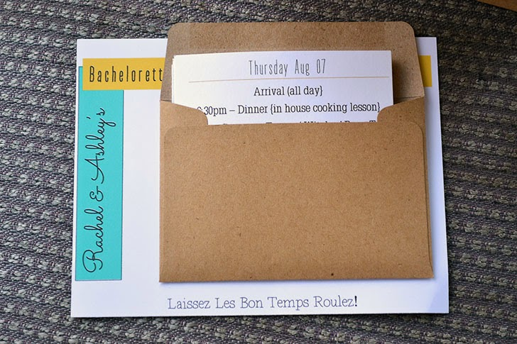 itinerary pouch welcome packet
