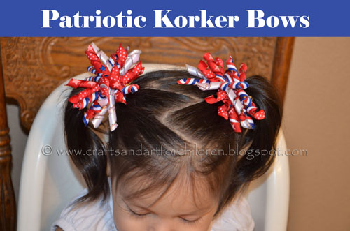 DIY Patriotic Korker Bows