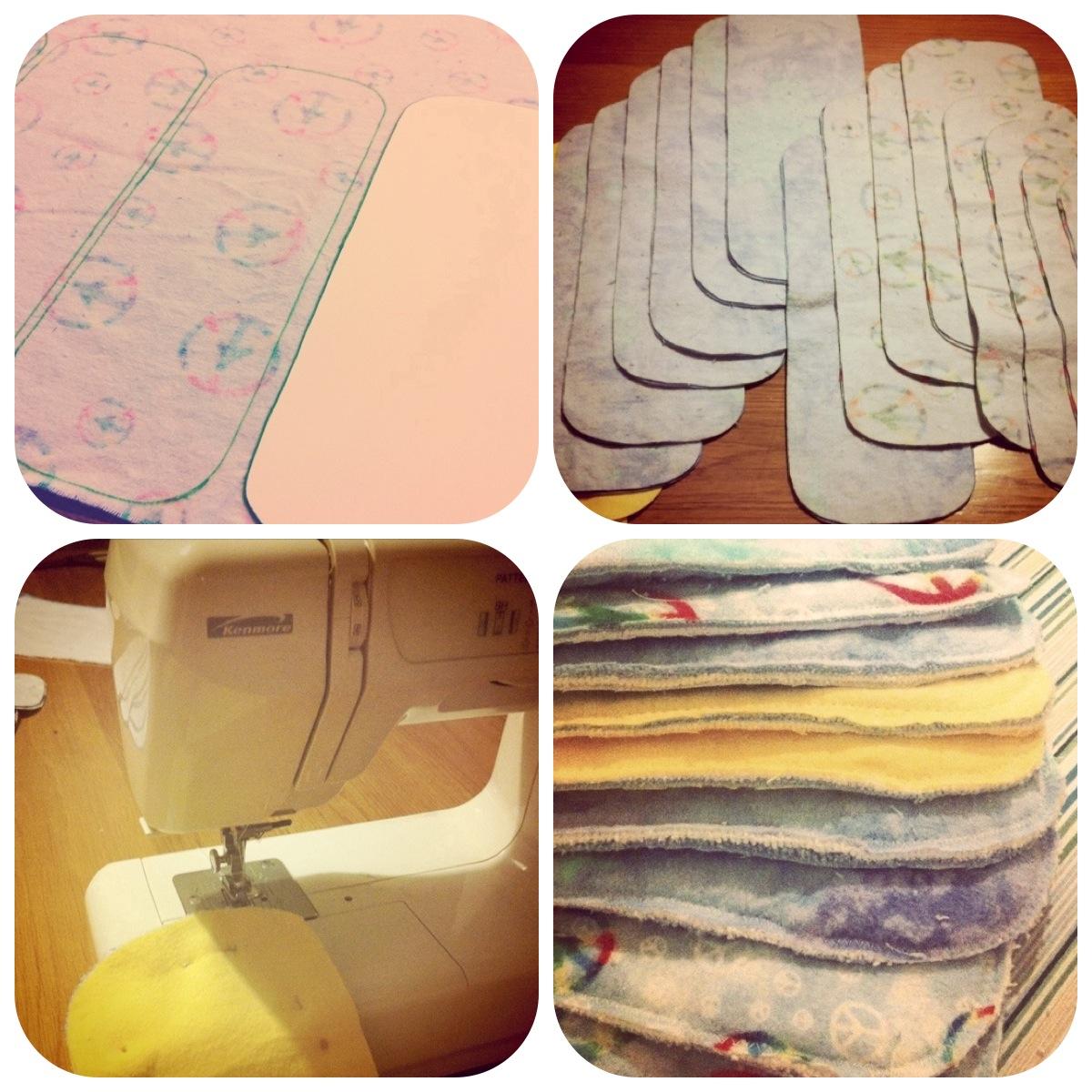 Diy Cloth Pads Tutorial: Soaker Pad Tutorial (kind Of)