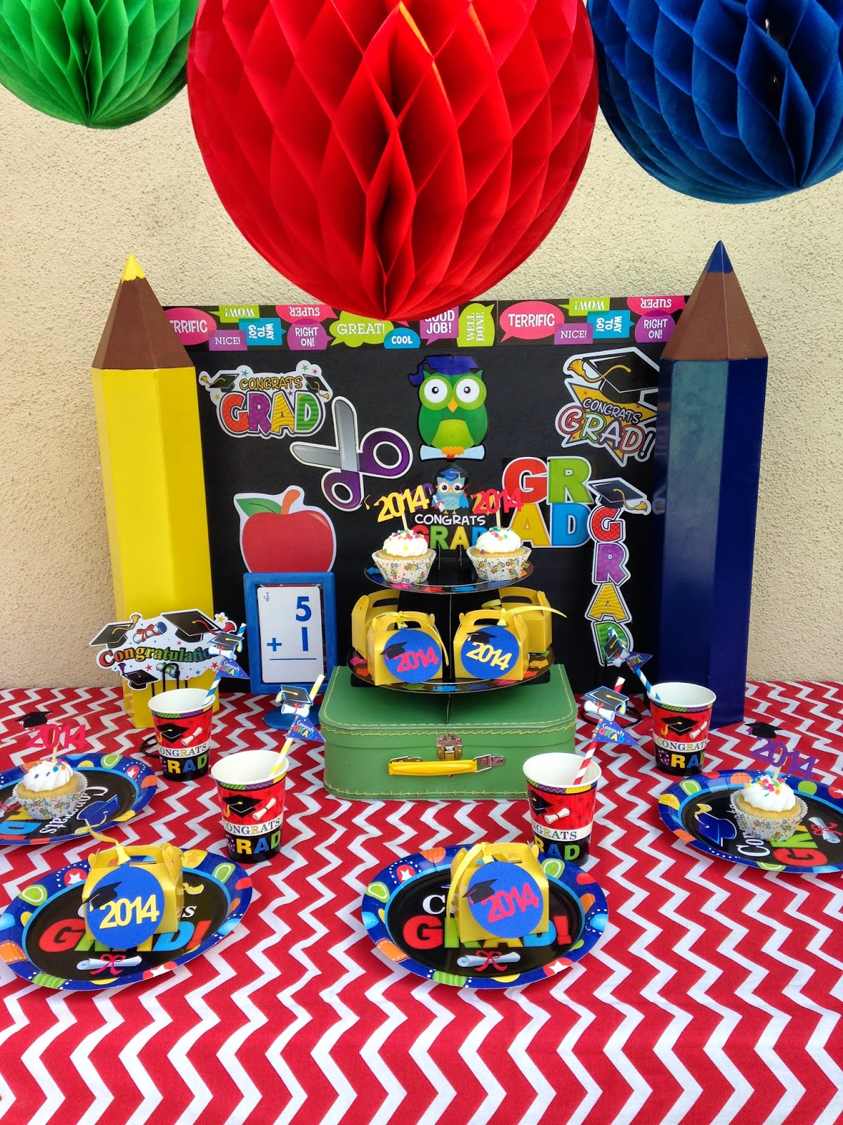 pre-school/kindergarten graduation party ideas - laura's little party