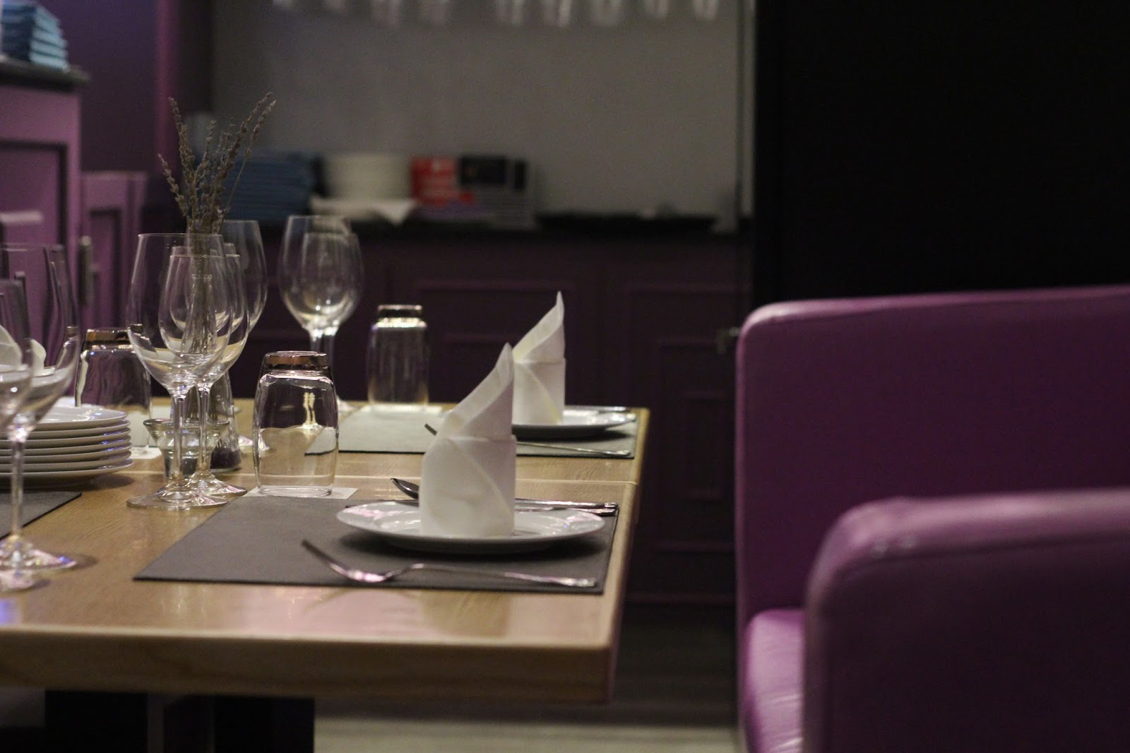 violet herbs houses a 2 storey 70 seater restaurant where the interior design surrounds the theme of comfort