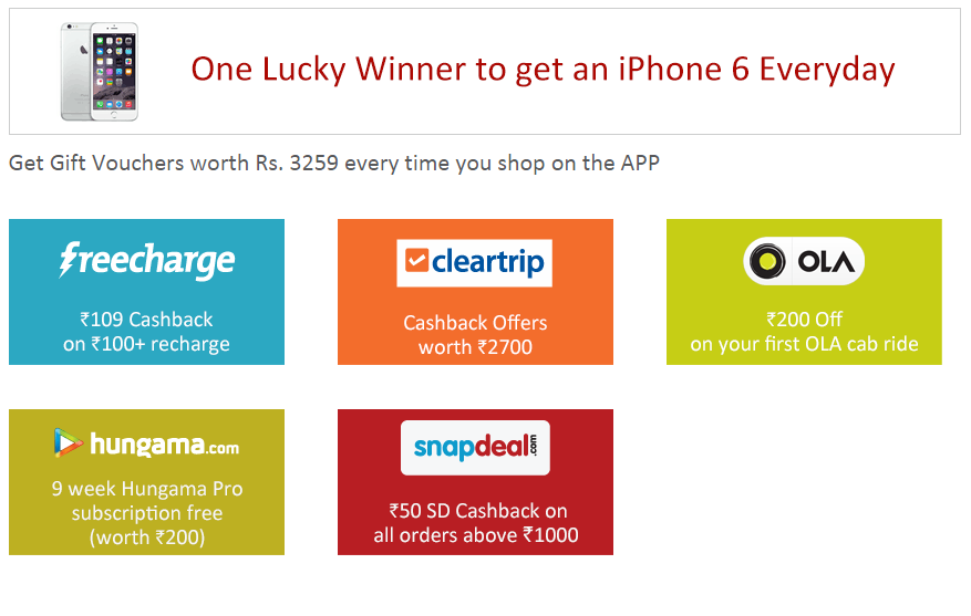 Snapdeal App offer