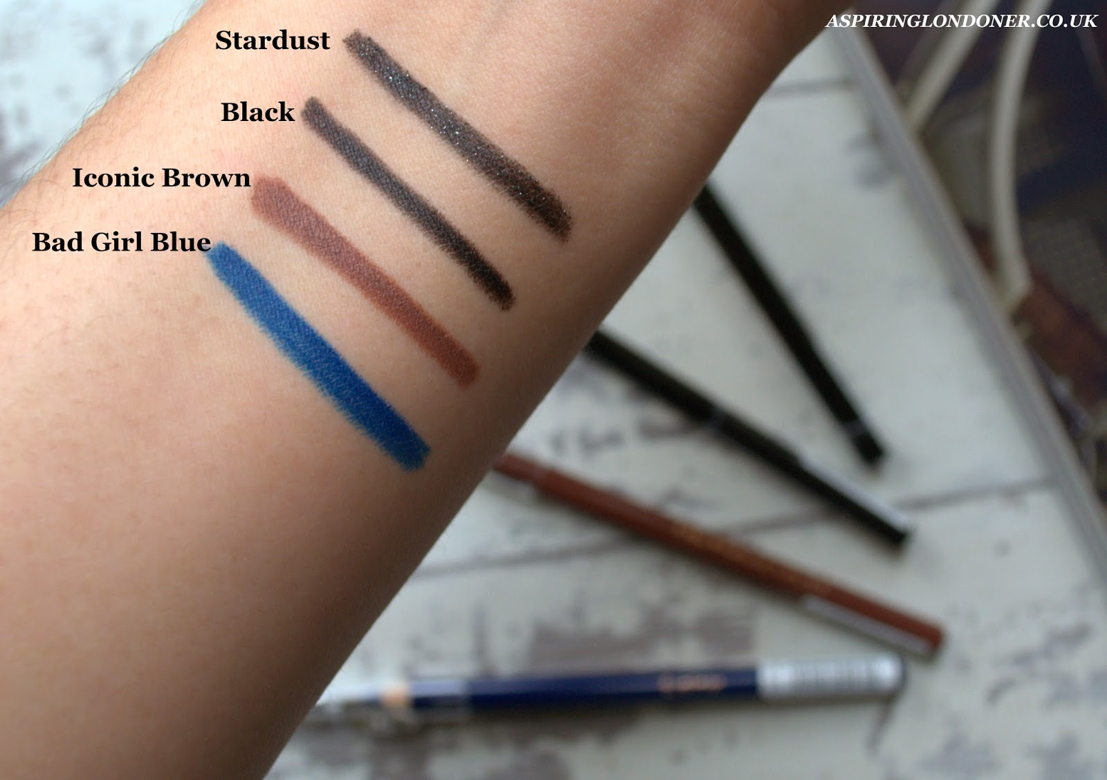 Makeup Revolution Amazing Eyeliner Swatches - Aspiring Londoner