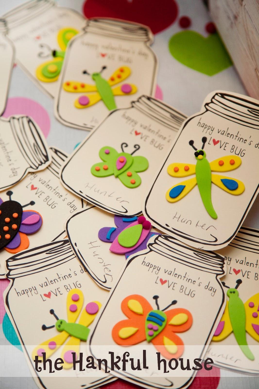 Kids Class Love Bug Cards The Hankful House – Class Valentine Cards