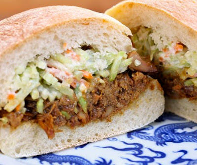 Slow Cooker Hoisin Chicken and Slaw Sandwiches