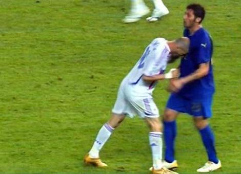Cabeçada de Zidane em Materazzi final da copa do mundo 2006