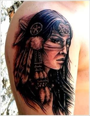 Tattoos de indias no braço