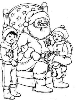 Desenhos e riscos de natal: papai noel