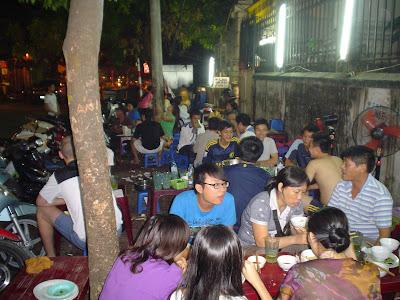 Street restaurant Hanoi Vietnam