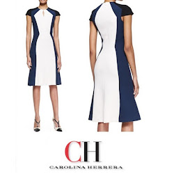CAROLINA HERRERA Dress and MAGRIT Sandals Queen Letiza Style