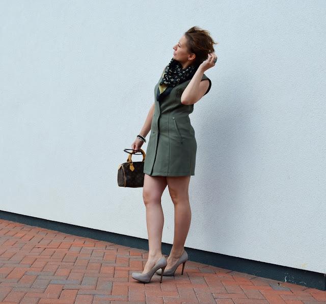 Longline Sleeveless Waistcoat Dress in Khaki ***Crazy In Love***
