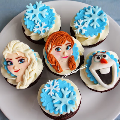 pretty best frozen cupcake toppers elsa anna olaf