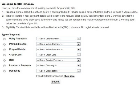 how to pay electricity bill by net banking sbi