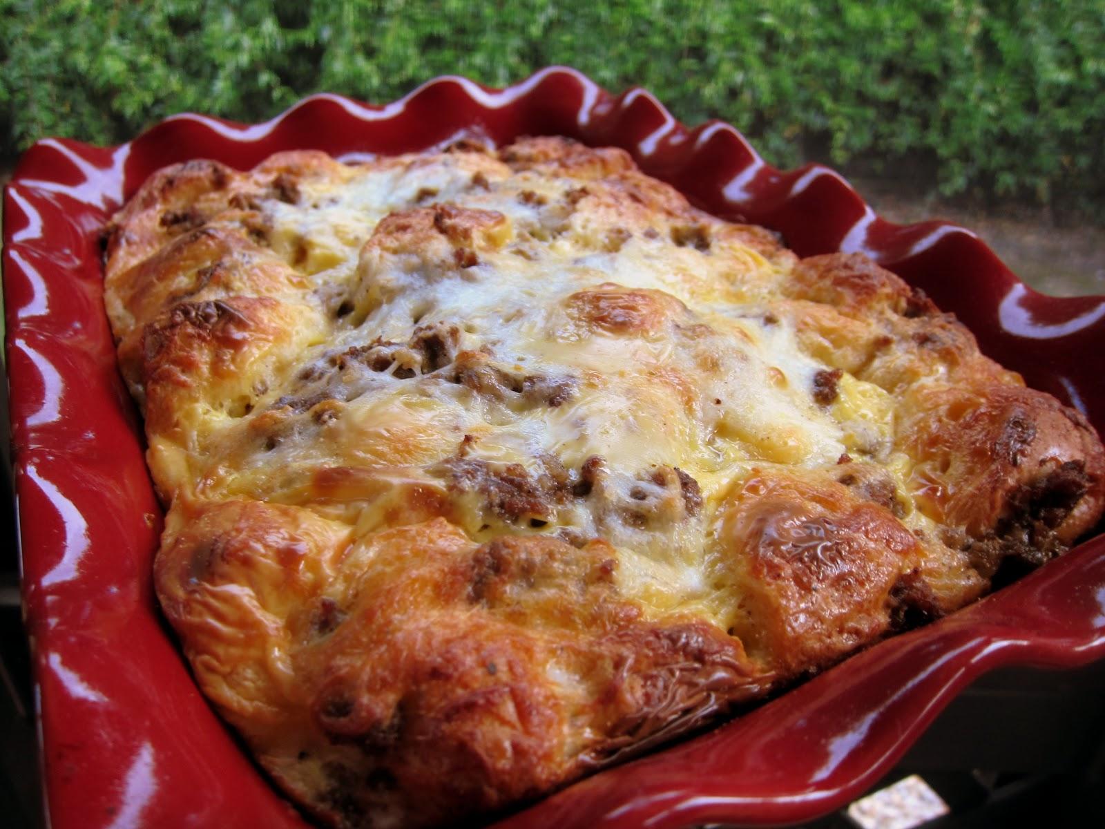 Chicken-Garlic Sausage, Kale, And Mozzarella Egg Bake Recipes ...