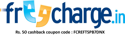 Get free Rs.50 cashback on recharge of Rs.10 using freecharge app