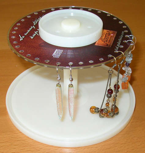 CD Earring Holder