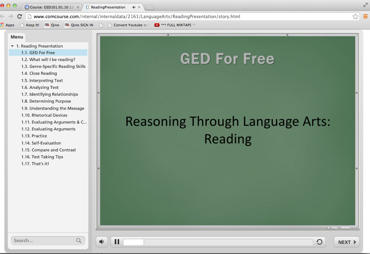 ged essay course