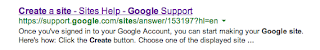 Link to Google Site Support