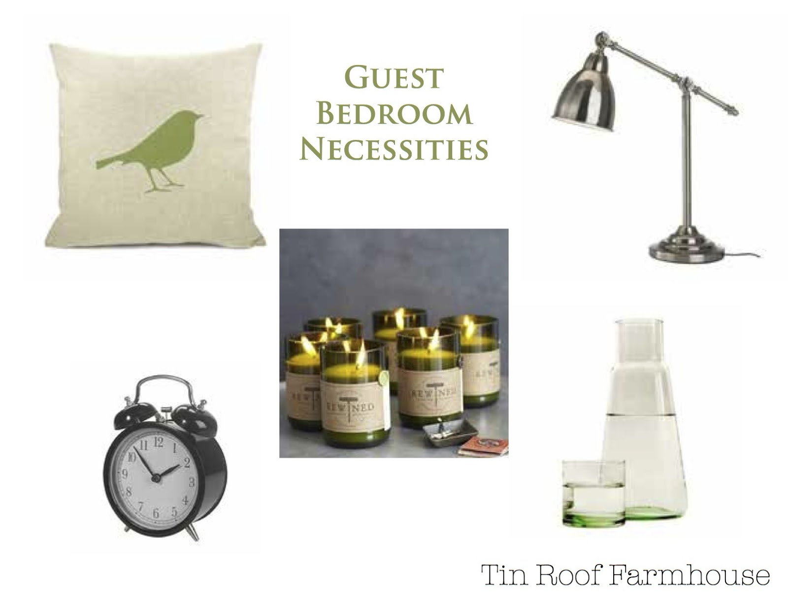 Tin roof farmhouse five faves for friday guest bedroom for Bedroom necessities