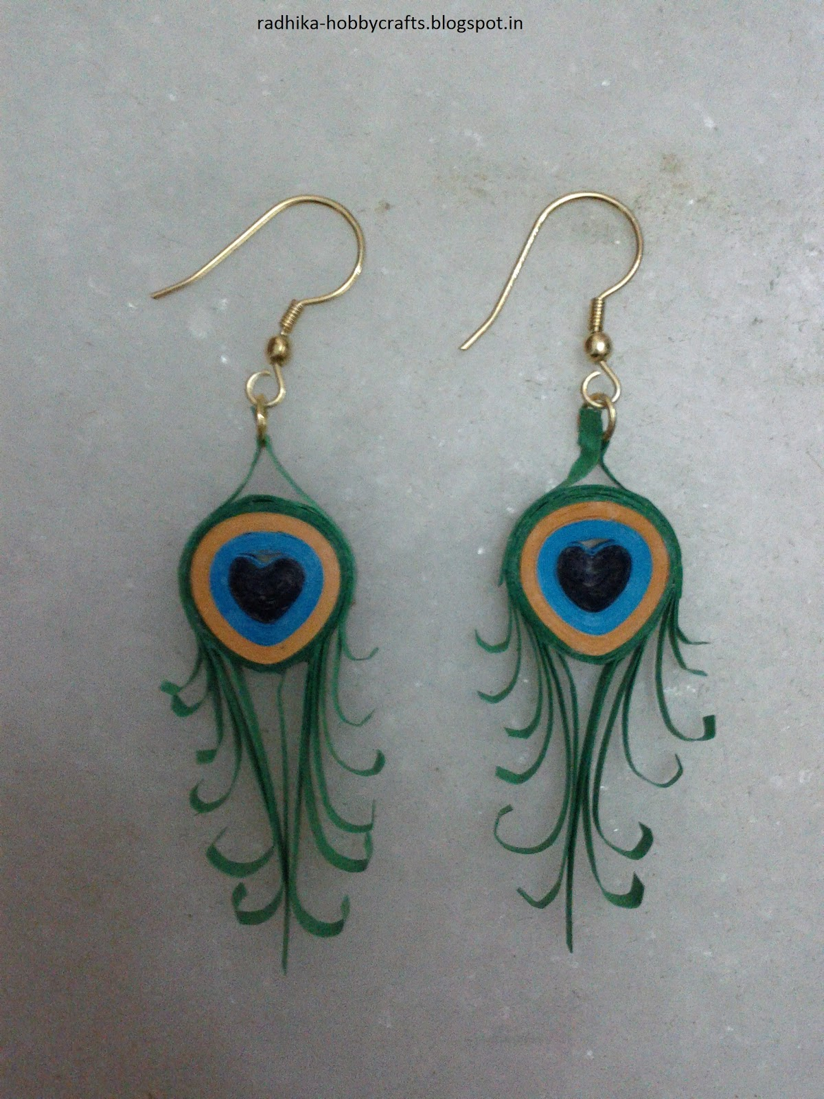 Hobby Crafts :): Quilled jewllery (earrings)