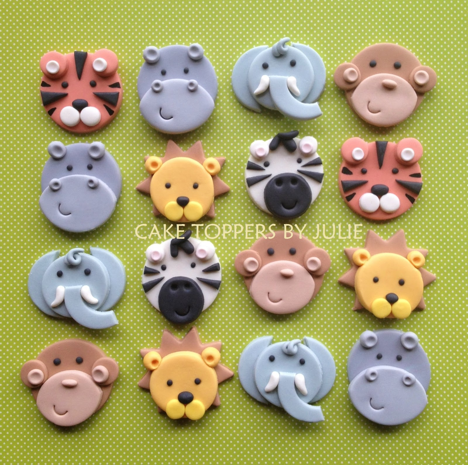 How To Make Fondant Jungle Animal Cake Toppers
